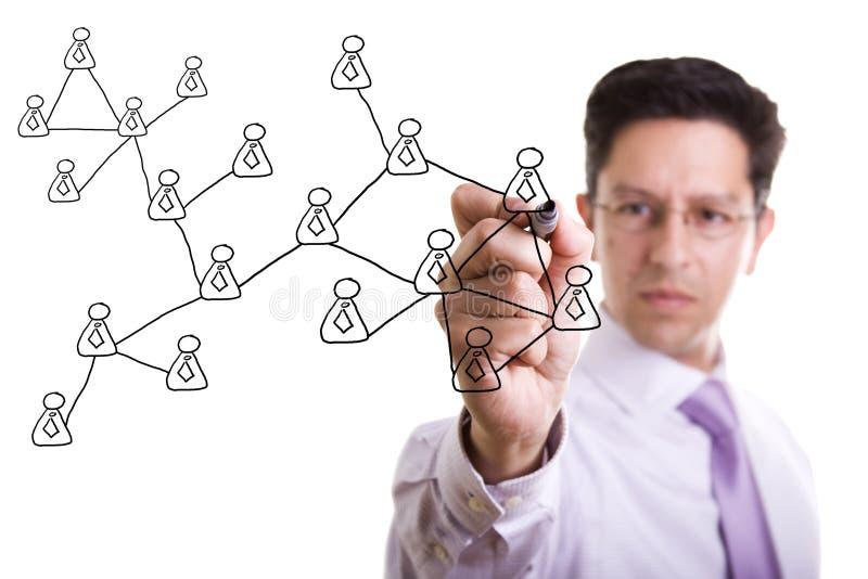 Social network scheme stock photography