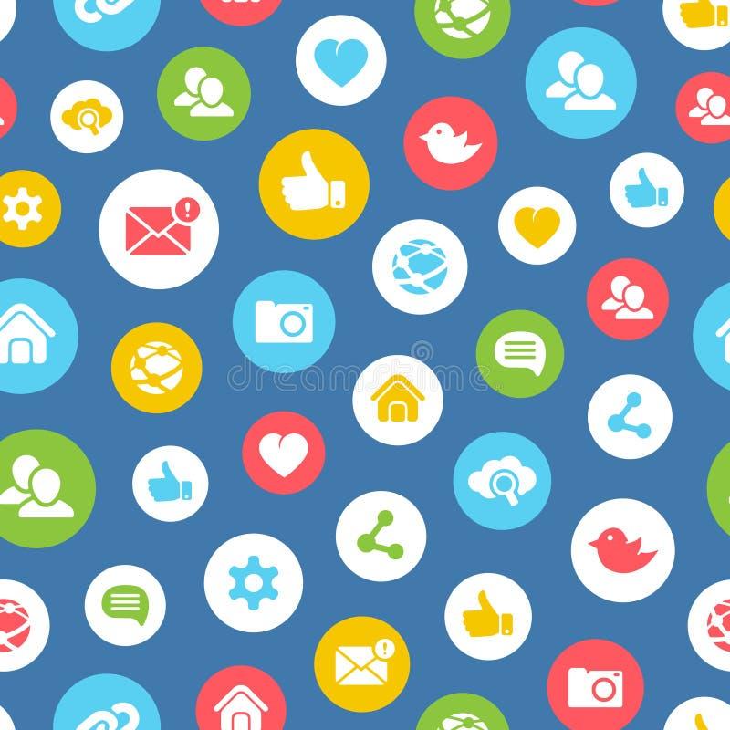 Social network seamless pattern royalty free illustration