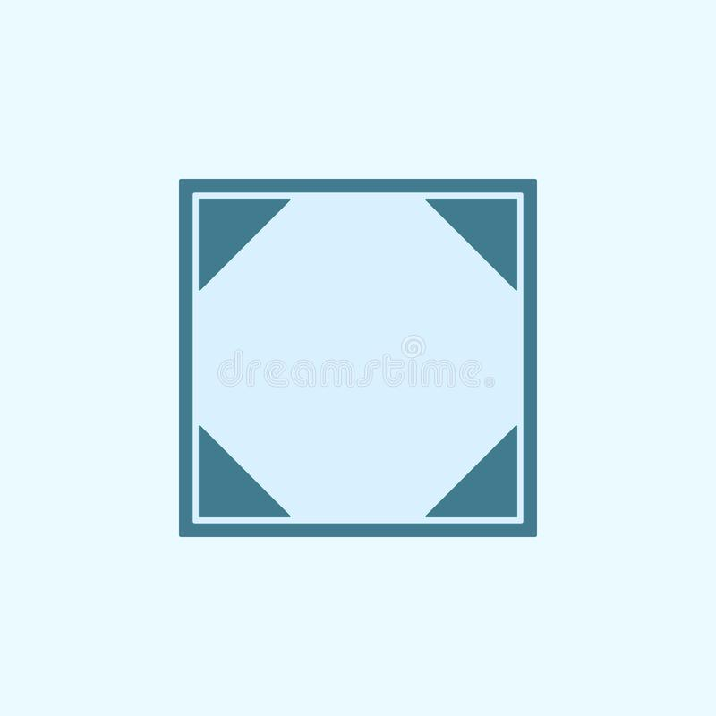Social network sign field outline icon. Element of 2 color simple icon. Thin line icon for website design and development, app. Development. Premium icon on stock illustration