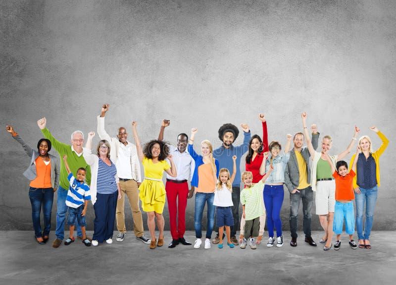Social Network Social Media Diversity People Celebration Concept stock photo