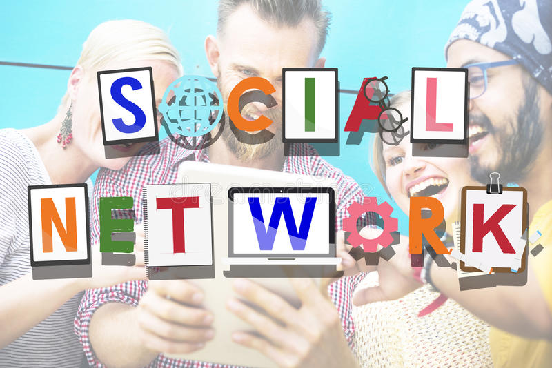 Social Network Social Media Technology Connected Concept.  stock photos