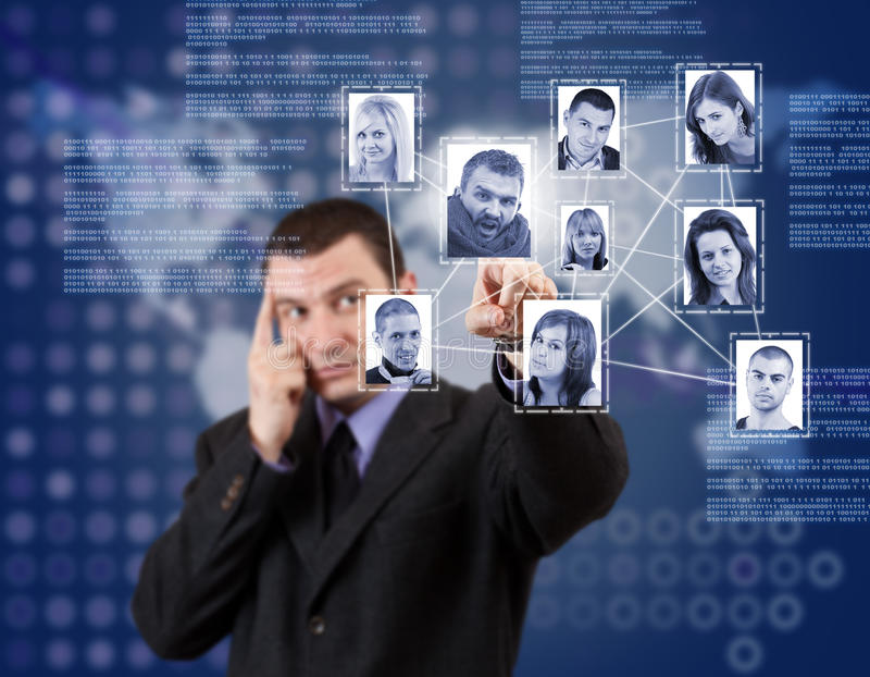 Download Social network structure stock photo. Image of contact - 23803934