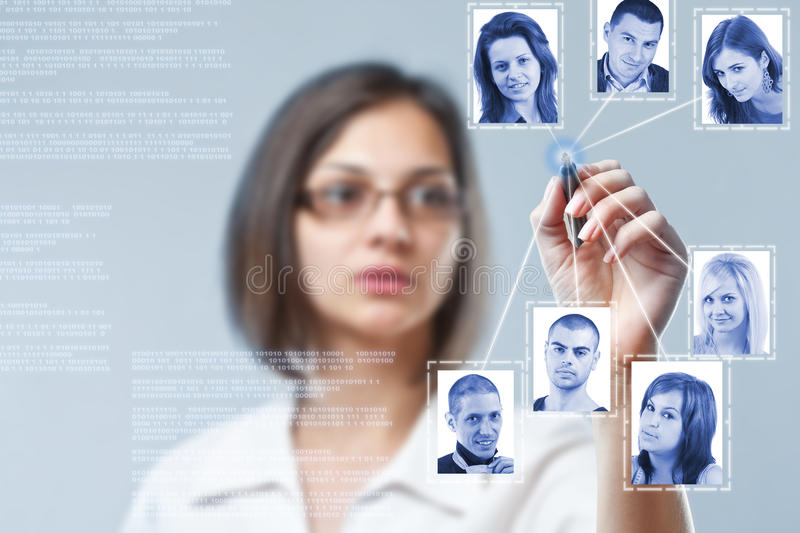 Social network structure royalty free stock photos