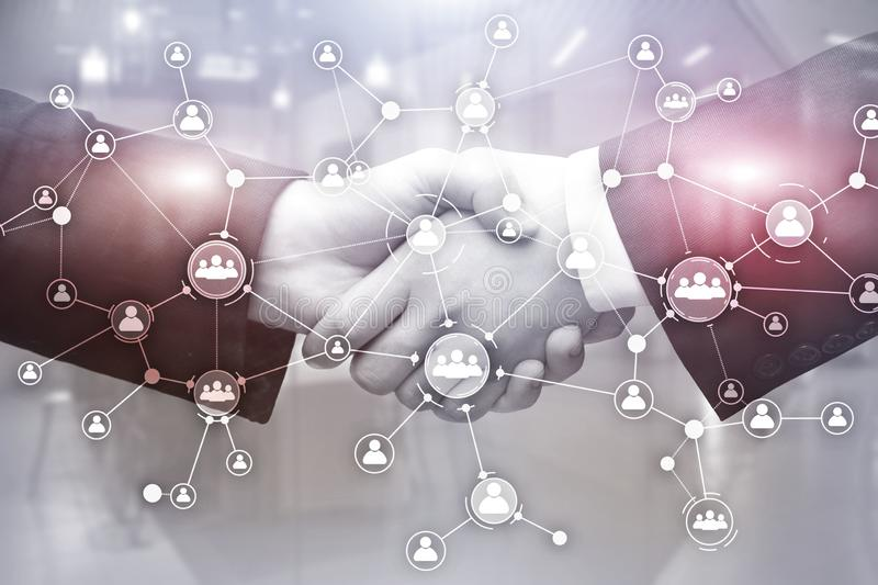 Social network structure. Icon people. Business connections concept. royalty free illustration
