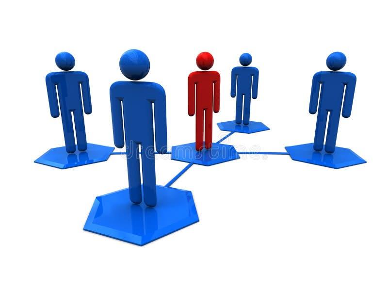 Social network system royalty free illustration