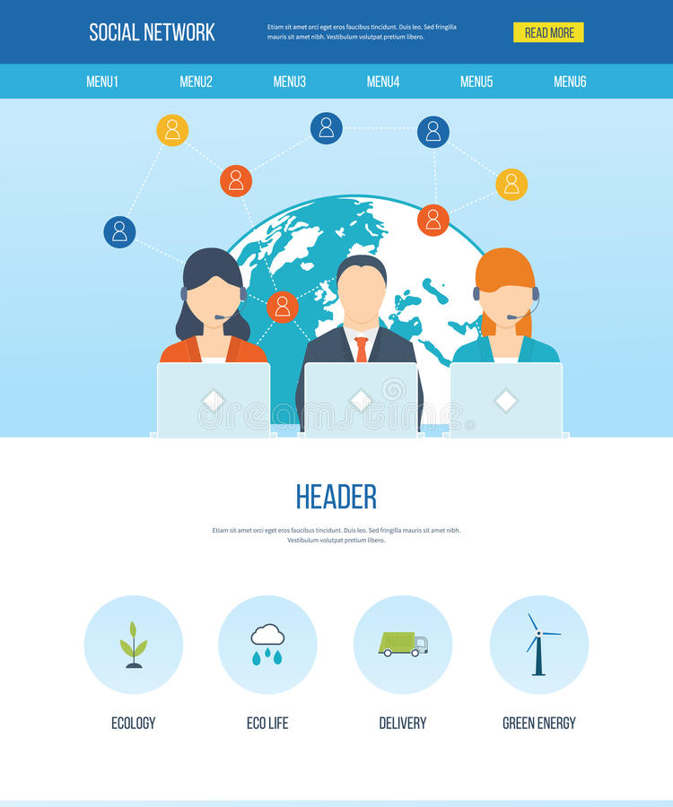 Social network and teamwork concept. royalty free illustration