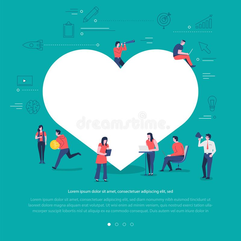 Social network teamwork stock illustration