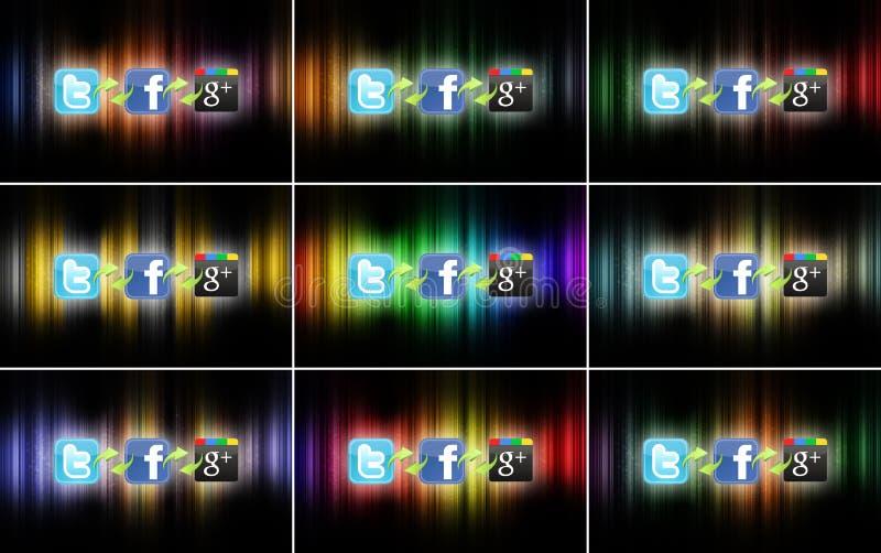 Social network technology vector illustration