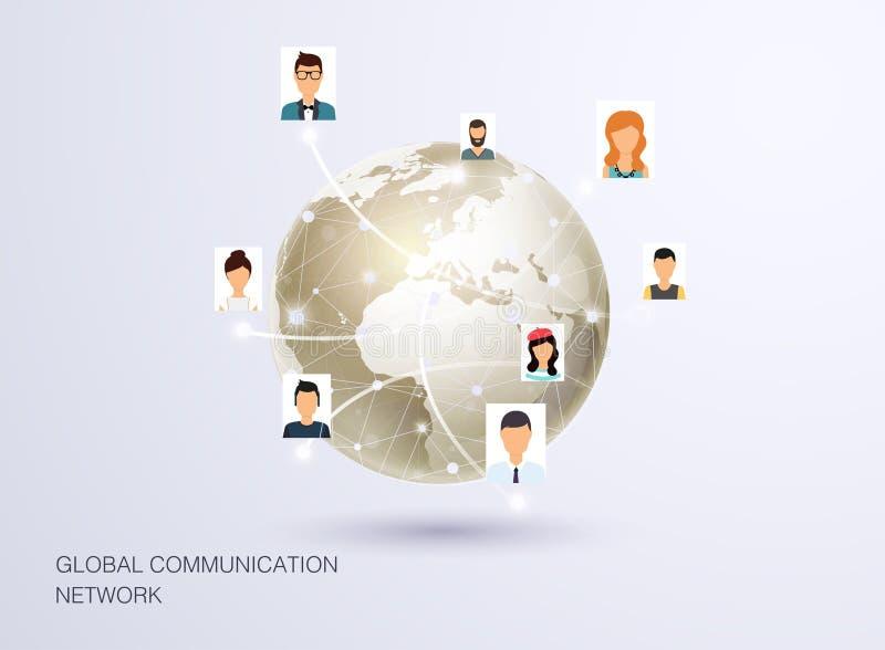Social Network Vector Concept. Flat Design Illustration for Web vector illustration