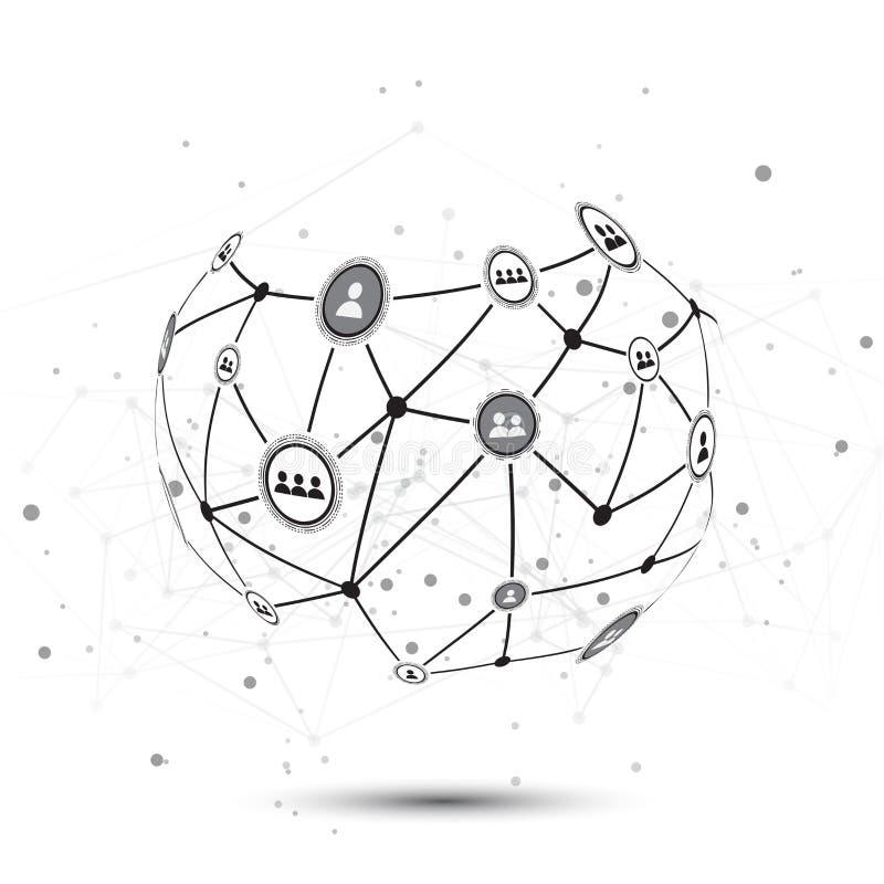 Social Network Vector Design Concept Illustration royalty free illustration