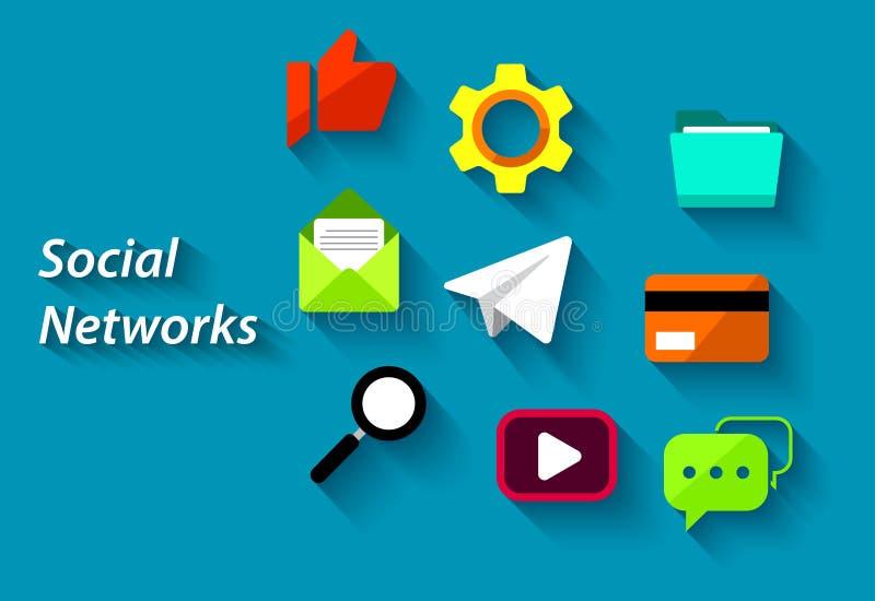 Social network. Vector design of social network illustration royalty free illustration