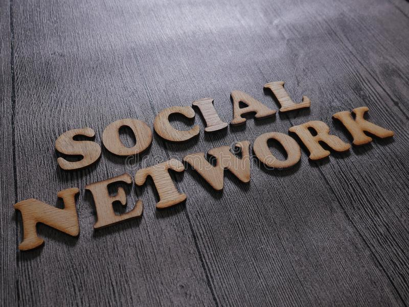 Social Network Words Typography Concept royalty free stock photos