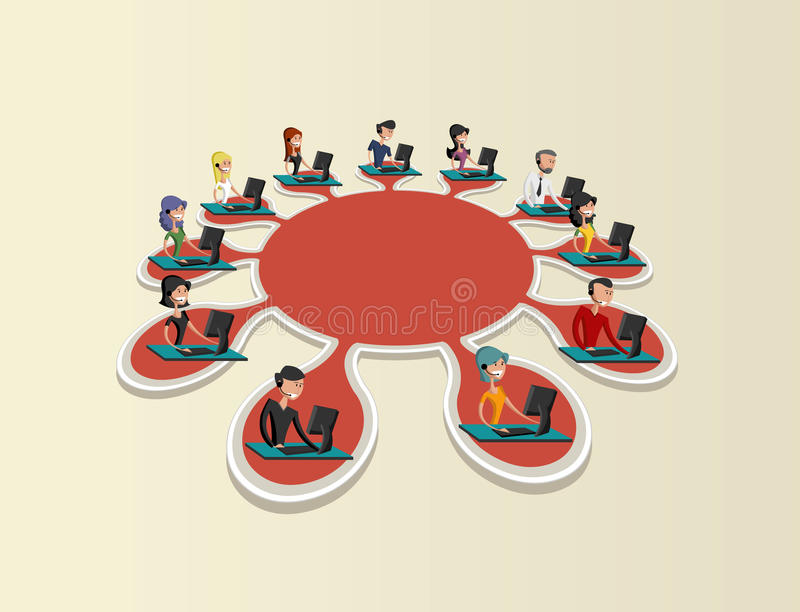 Social network. vector illustration