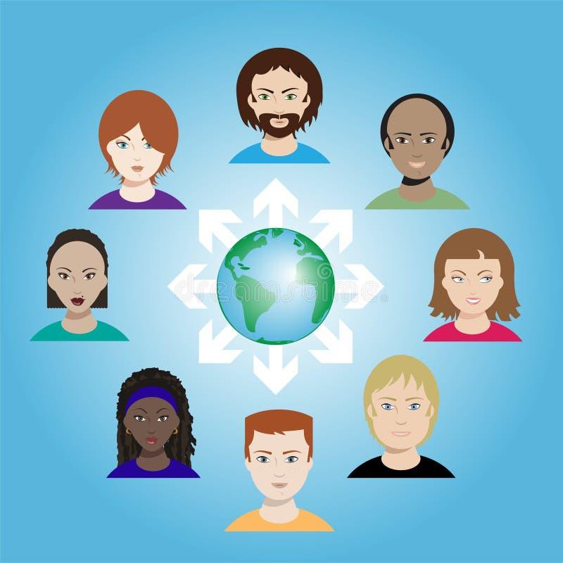 Social networking vector illustration