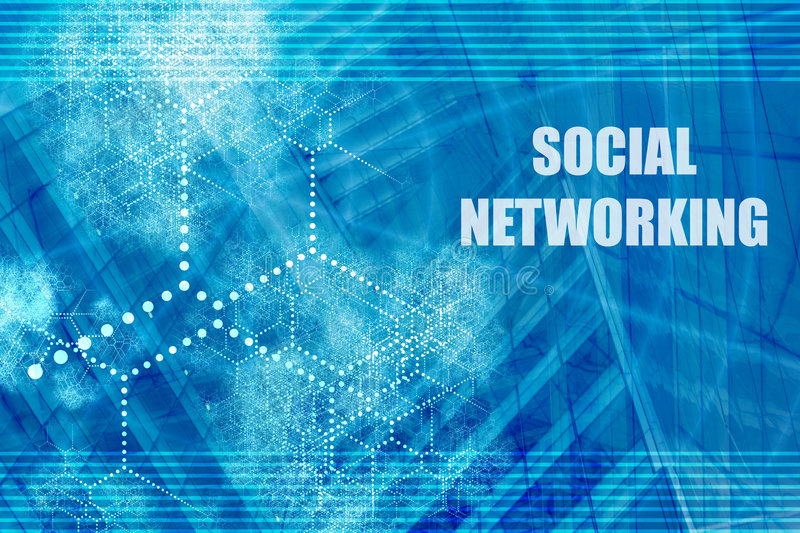 Social Networking. Abstract Background with Internet Network