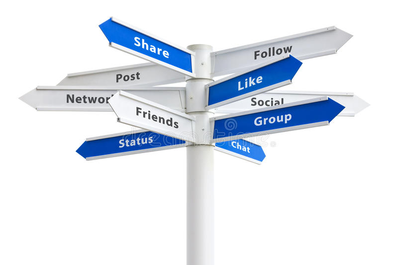 Social Networking Buzzwords Sign stock photography