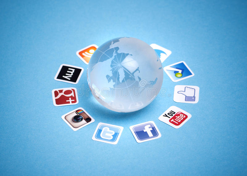Social networking communication royalty free stock images