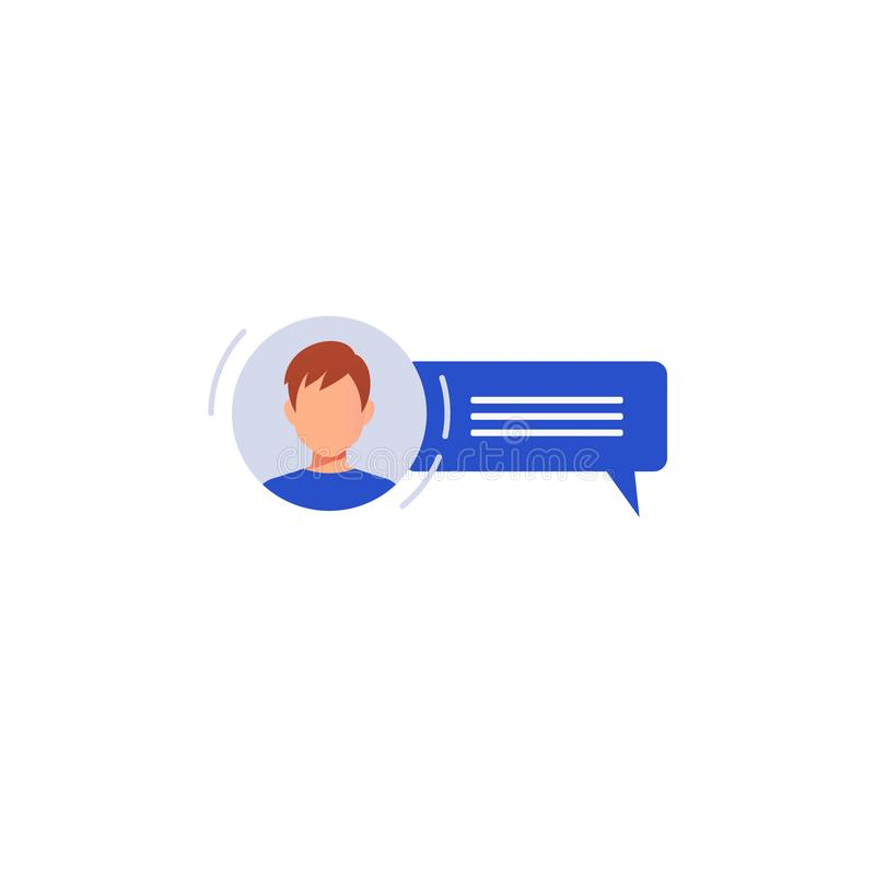 Social networking concept. Chatting stock illustration
