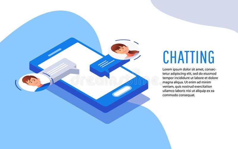 Social networking concept. Chatting vector illustration