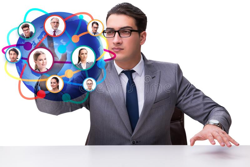 Social networking concept with people. The social networking concept with people stock images
