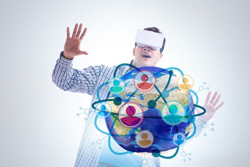 Social networking concept with people stock photography