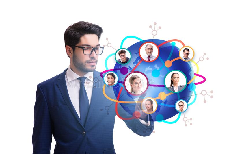 Social networking concept with people stock photo