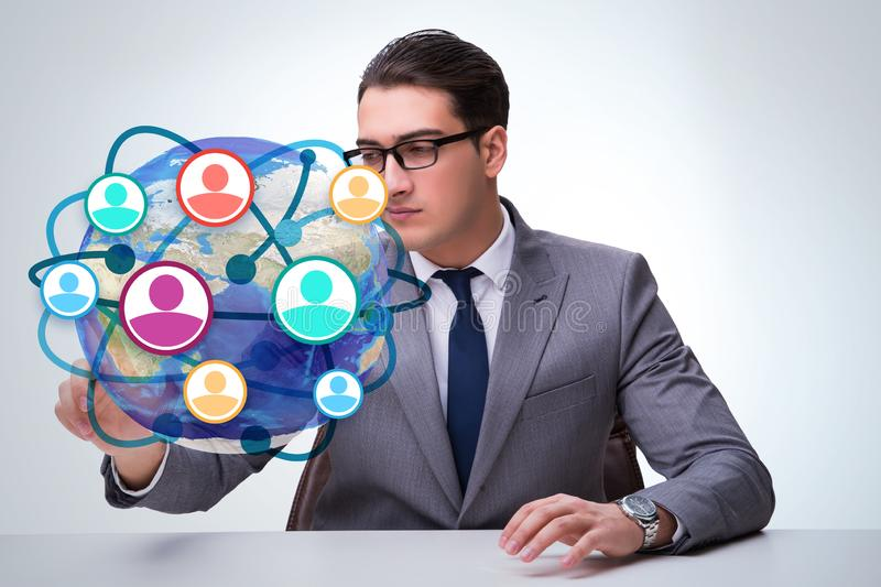Social networking concept with people royalty free stock photo