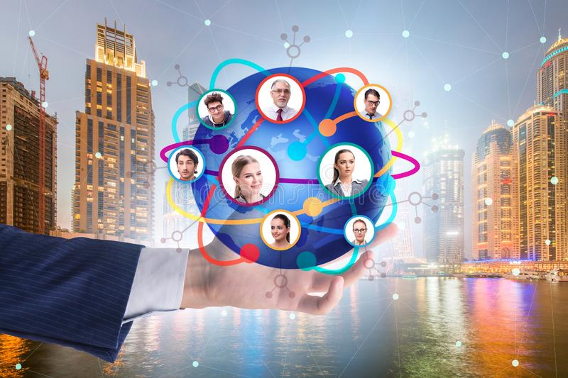 Social networking concept with people stock image