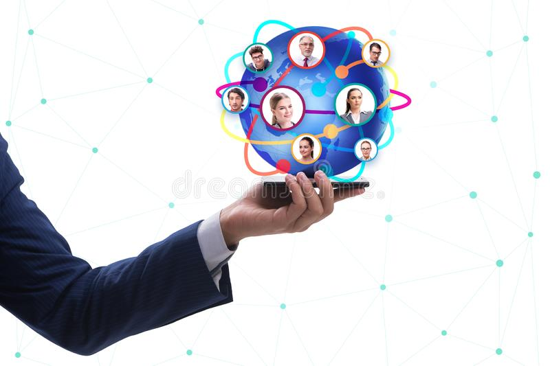 Social networking concept with people stock images