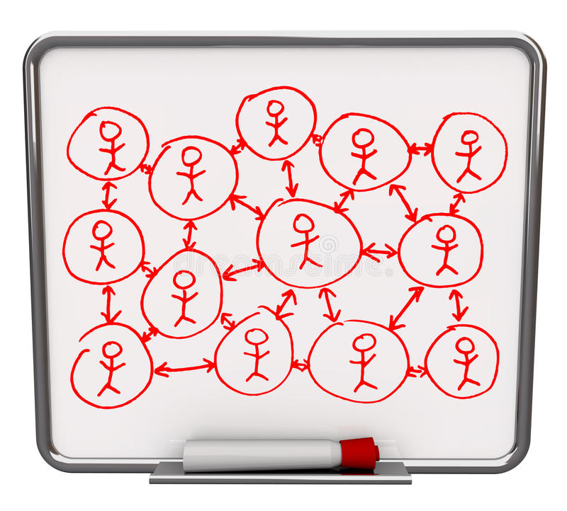 Download Social Networking - Dry Erase Board Stock Illustration - Image: 11165714