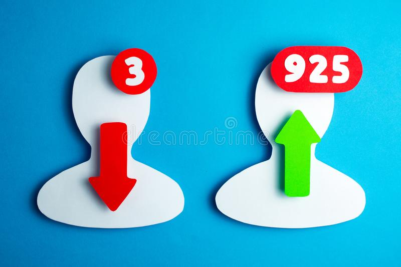 Users of social networks  blogging and online messaging stock image