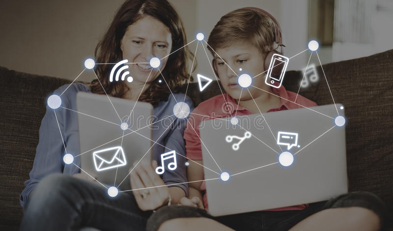 Social Networking Global Communications Technology Connection Co royalty free stock image