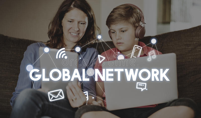 Social Networking Global Communications Technology Connection Co stock photo