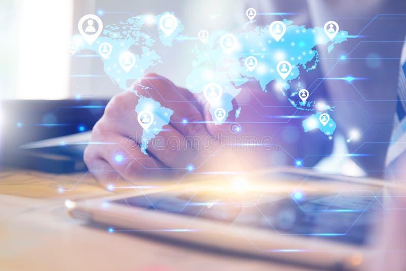 Social Networking-Technologiekonzept lizenzfreie stockfotos