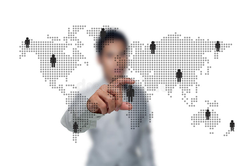 Social networks. stock images