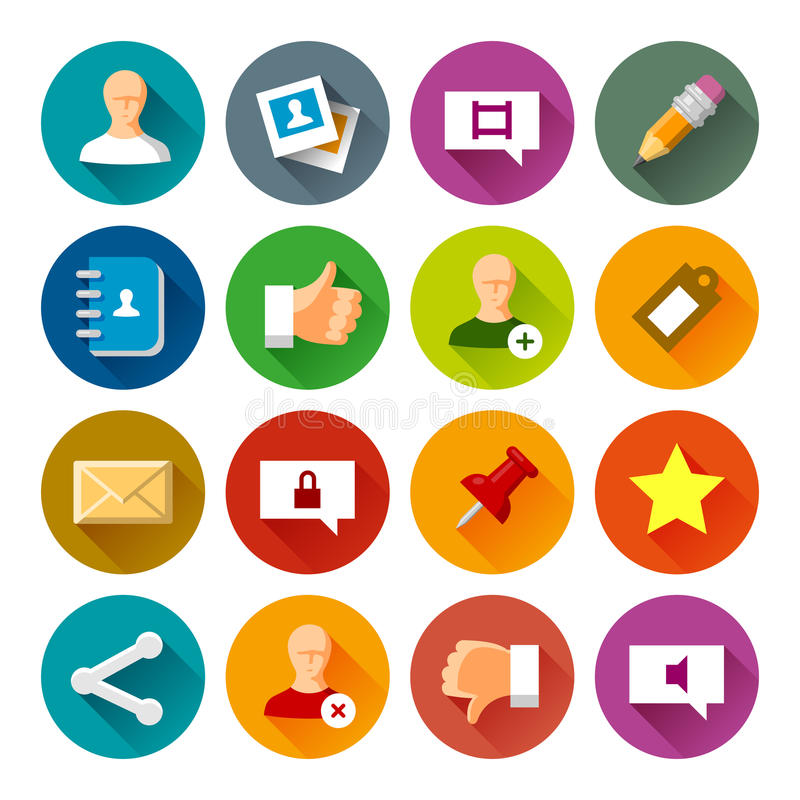 Social Networks icons – Fllate series royalty free stock photos