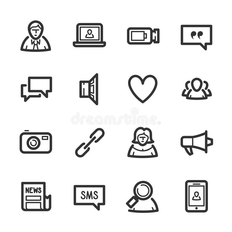 Social Networks icons – Bazza series stock photos