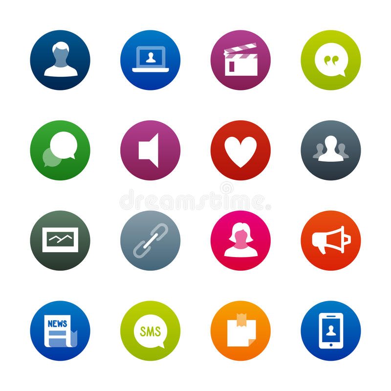 Social Networks icons – Kirrkle series royalty free stock photo