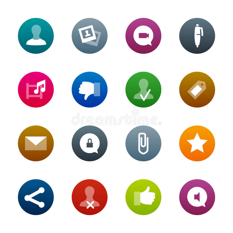 Social Networks icons – Kirrkle series stock photo