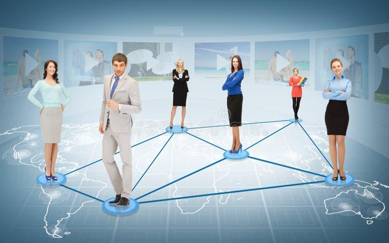 Social ou réseau d'affaires images libres de droits