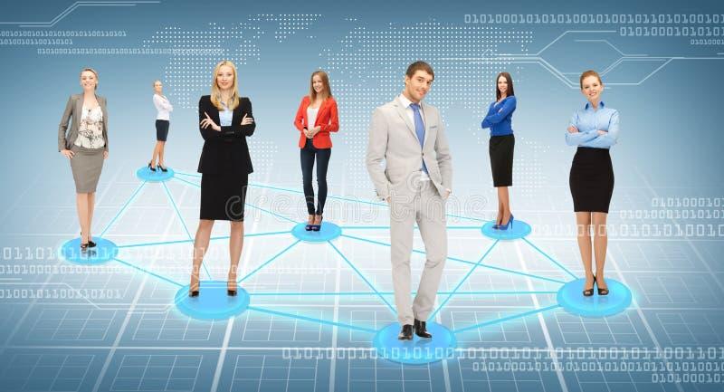 Social ou réseau d'affaires images stock