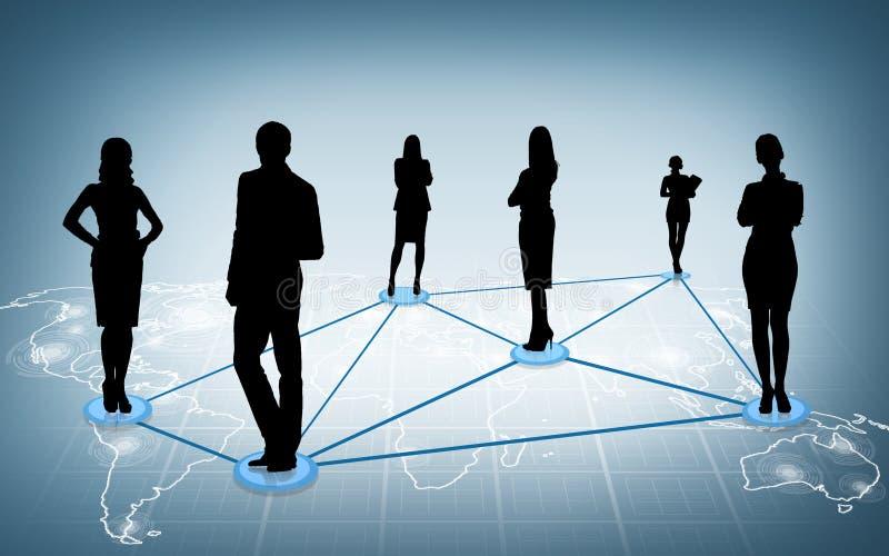 Social ou réseau d'affaires image libre de droits