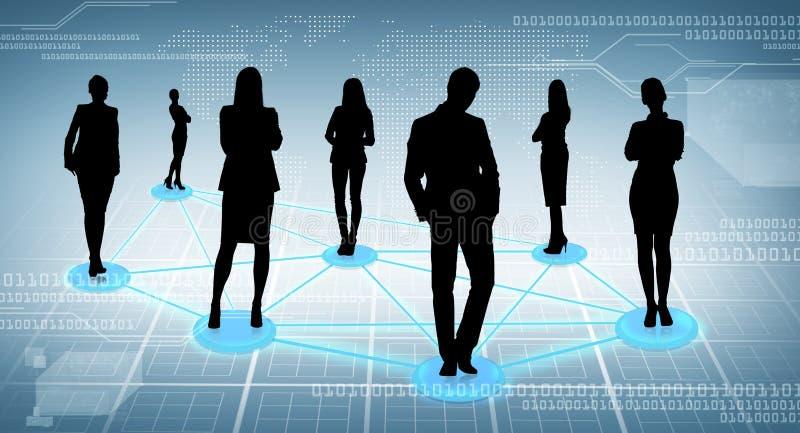 Social ou réseau d'affaires photos libres de droits