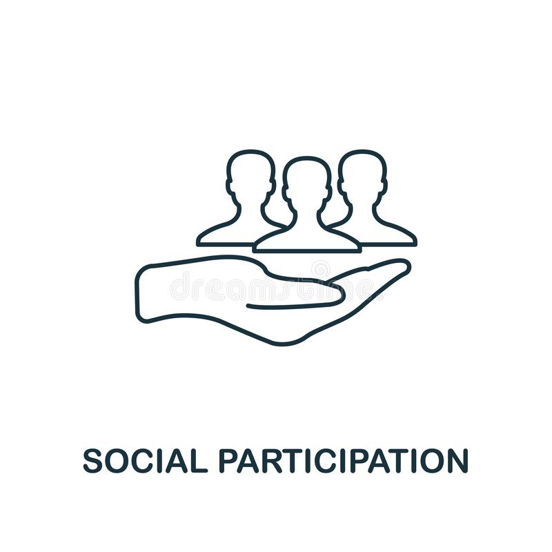 Free Social Participation Outline Icon. Thin Line Element From Crowdfunding Icons Collection. UI And UX. Pixel Perfect Social Stock Image - 139937061