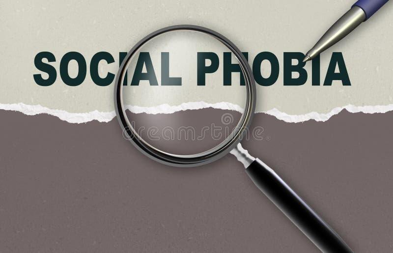 Social phobia stock illustration