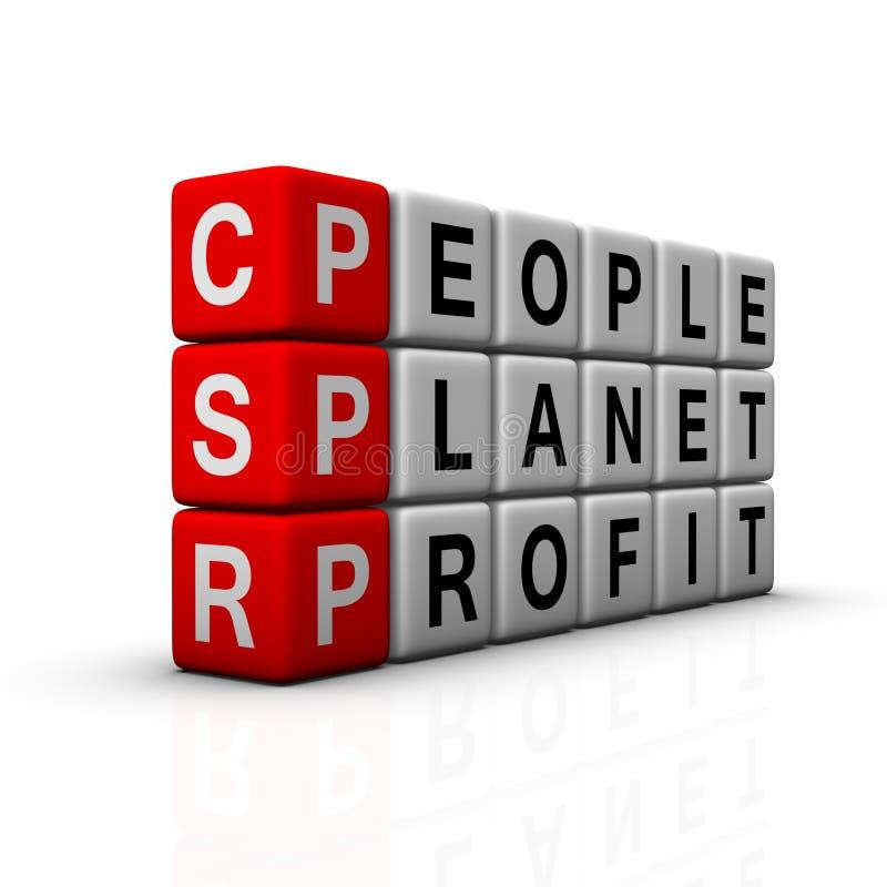 Social responsibility stock illustration
