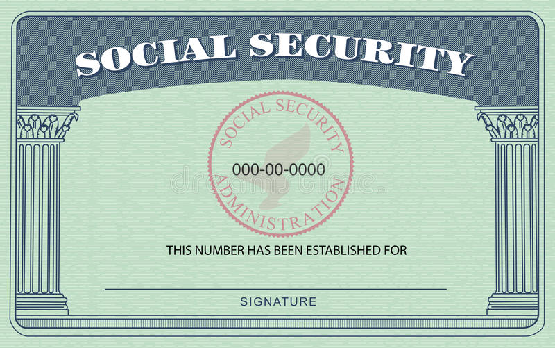 Social Security Card royalty free illustration