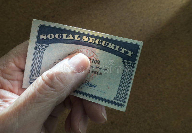 Social security card royalty free stock photos