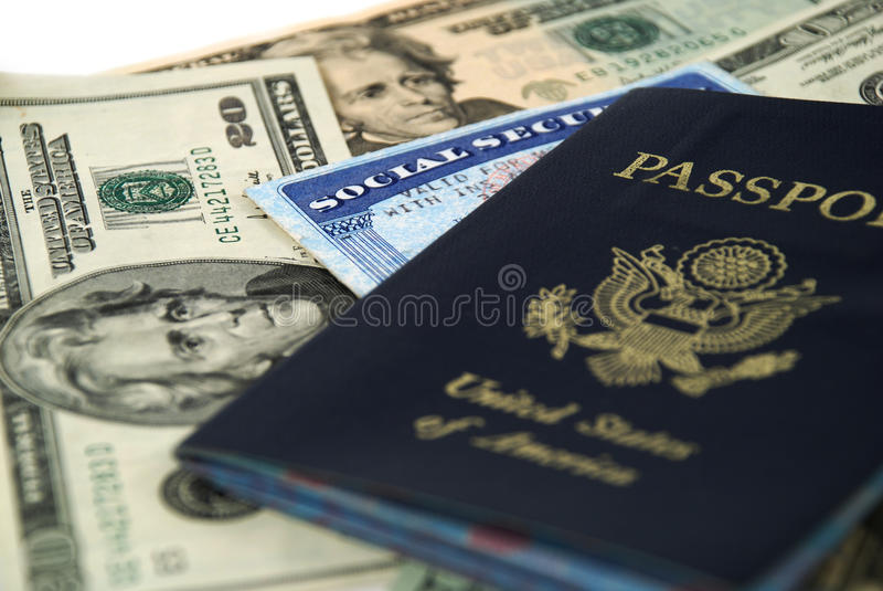Download Social Security And Passport Stock Image - Image: 12663379