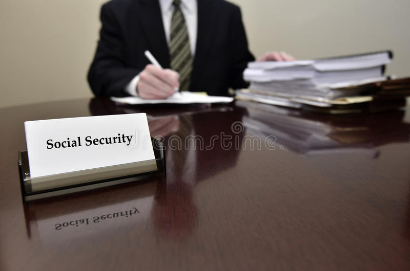 Social Security Worker stock photography